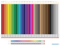 Color pencil stationery assorted set Stock Images