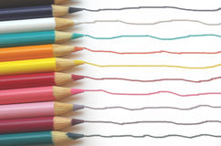 Color Pencil Trails Stock Photography
