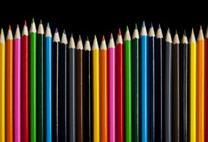 Color Pencil Wave Stock Photo