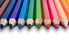 Color pencil  on white Royalty Free Stock Photography