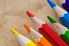 Color pencil  on white Royalty Free Stock Images