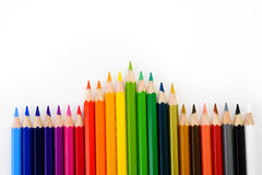 Color pencil. On white background Royalty Free Stock Images