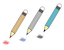 Color pencil. On white background Royalty Free Stock Photo