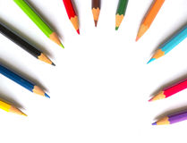 Color pencil. On white background Royalty Free Stock Photos