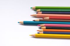 Color pencil on white background Stock Photo