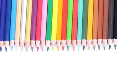 Color pencil with white background. Diferents color pencil in a white background Royalty Free Stock Image