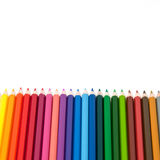 Color pencil on white background isolated Stock Images
