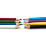 Color pencil on white background isolated Stock Image