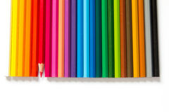 Color pencil on white background Stock Photography
