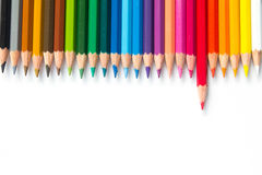 Color pencil on white background Royalty Free Stock Photo