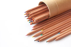 Color pencil on white background. Various color pencil on white background for creative Royalty Free Stock Images