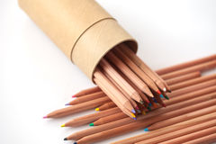 Color pencil on white background. Various color pencil on white background for creative Stock Photos