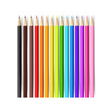 Color pencil on white background with vector illustration 001. Color pencil on white background with vector illustration eps10 Stock Image