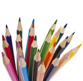 Color pencil  on white Stock Photos