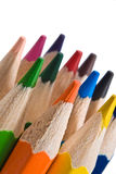 Color pencil  on white Stock Images
