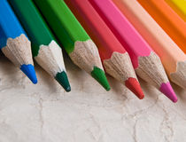 Color pencil  on white Royalty Free Stock Photo