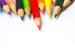 Color pencil on white Royalty Free Stock Image