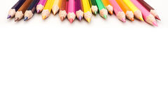 Color pencil on a white paper for background, frame Stock Photos