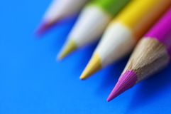 Color penciles in macro Stock Images