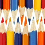 Color pencils. Macro isolated over white background stock photos