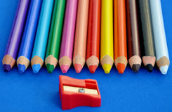 Color Pencils. Macro pic of colorful pencils Royalty Free Stock Images