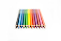 Color pencils. Before white background Royalty Free Stock Image