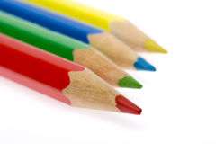 Color pencils. Close-up picture of multicolor pencils Royalty Free Stock Photos