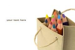 Color pencils royalty free stock photos