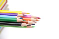 Color Pencils. Isolated on white background Stock Photography