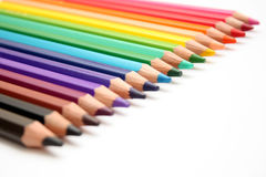 Color pencils. Isolated on white background royalty free stock image