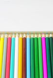 Color pencils. Some color pencils on the white background Royalty Free Stock Photo