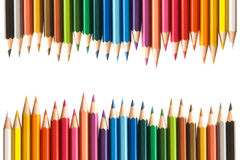 Color pencils. On white, 24 color Royalty Free Stock Photo