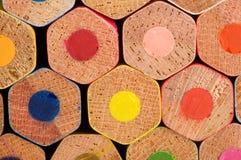Color pencils. Back color pencils, different color Stock Photos