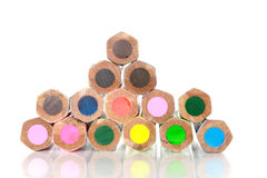 Color pencils. Back color pencils. On a white background royalty free stock photo