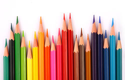 Color pencils. The color pencils on white background Royalty Free Stock Photo