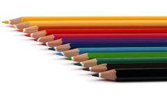 Color Pencils. Shallow depth of field stock photo
