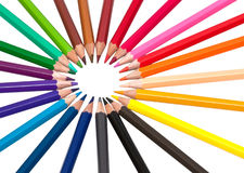 Color pencils. Multi Color pencils. Isolated object Royalty Free Stock Images
