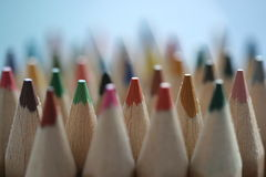 Color Pencils. A number of color pencils Royalty Free Stock Photo