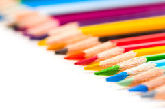 Color pencils. On a white Royalty Free Stock Photo