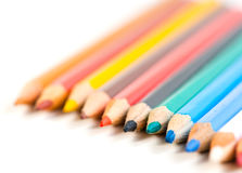 Color pencils. On a white Royalty Free Stock Image