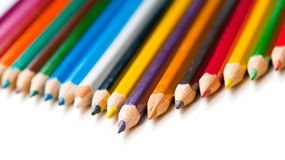 Color pencils. On a white Royalty Free Stock Photos