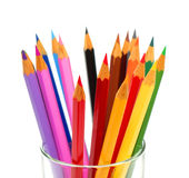Color pencils. Assortment of color pencils isolated on a white background Royalty Free Stock Image