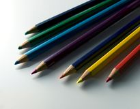 Color pencils. Pencils of color upon white bottom Royalty Free Stock Photos