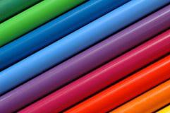 Color pencils. Rainbow Color pencils close up Stock Image
