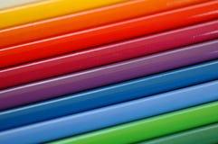 Color pencils. Rainbow Color pencils close up Royalty Free Stock Image