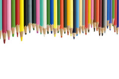 Color pencils. Close up color pencils on white Royalty Free Stock Image