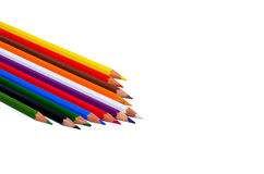 Color pencils. Lie on a white background Royalty Free Stock Photo