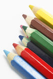 Color Pencils. On White Background royalty free stock photo
