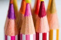 Color pencils. Close up of a bunch of color pencils Stock Photos