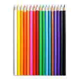 Color pencils. On white stock photography